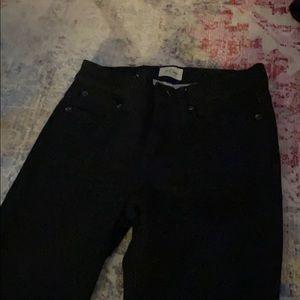 Jcrew size 26 black skinny jeans